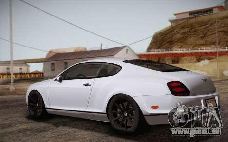 Bentley Continental SuperSports 2010 v2 Finale pour GTA San Andreas laissé vue
