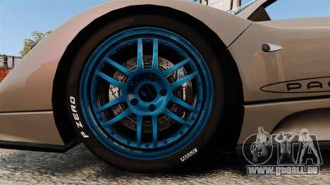 Pagani Zonda C12 S Roadster 2001 PJ1 pour GTA 4 Vue arrière