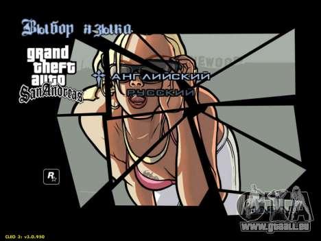 HD menus V.2.0 pour GTA San Andreas quatrième écran