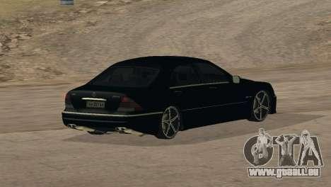Mercedes-Benz S65 AMG für GTA San Andreas obere Ansicht