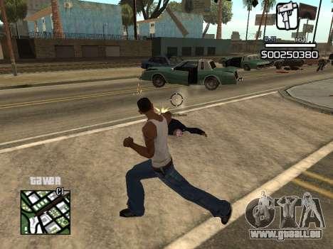 C-HUD By Kapo pour GTA San Andreas quatrième écran