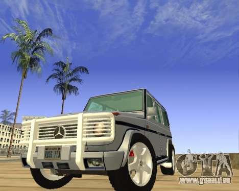 Mercedes-Benz G500 Brabus pour GTA San Andreas vue arrière