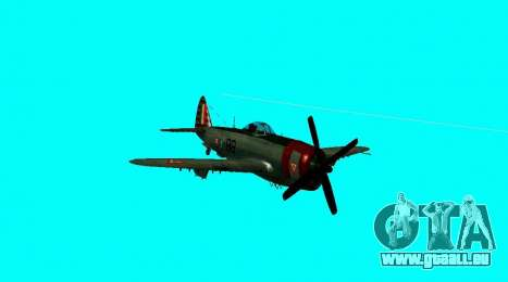 P-47 Thunderbolt pour GTA San Andreas vue de droite