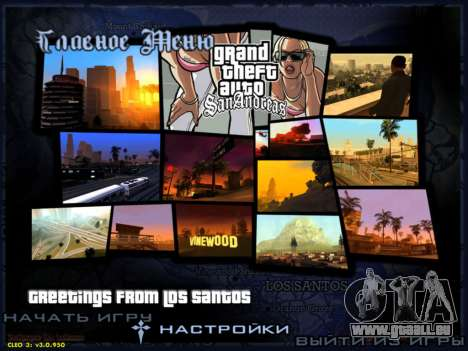 HD menus V.2.0 pour GTA San Andreas