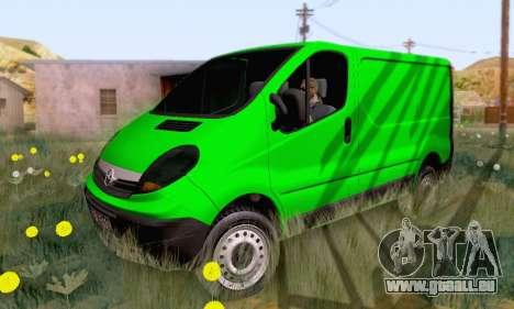 Opel Vivaro für GTA San Andreas obere Ansicht