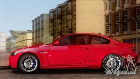 BMW M3 E92 pour GTA San Andreas laissé vue