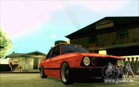 BMW M5 E28 RatStyle pour GTA San Andreas vue intérieure