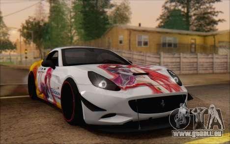Ferrari California v2 pour GTA San Andreas vue de côté