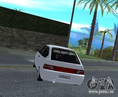 ВАЗ 2112 GVR Version 1.1 pour GTA San Andreas sur la vue arrière gauche