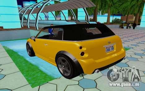 GTA 5 Weeny Issi V1.0 pour GTA San Andreas sur la vue arrière gauche