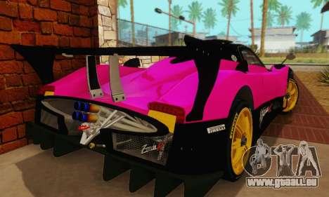Pagani Zonda Type R Pink für GTA San Andreas Rückansicht