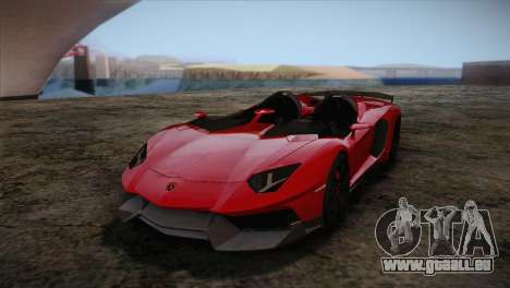 Lamborghini Aventandor J 2010 pour GTA San Andreas laissé vue
