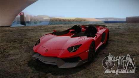 Lamborghini Aventandor J 2010 für GTA San Andreas linke Ansicht