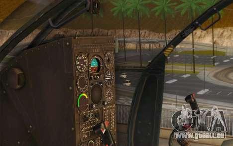 MH-6 Little Bird für GTA San Andreas Rückansicht