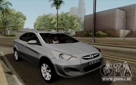 Hyundai Solaris für GTA San Andreas