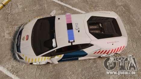 Lamborghini Huracan Hungarian Police [Non-ELS] für GTA 4 rechte Ansicht