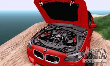 BMW F10 M5 2012 Stock pour GTA San Andreas vue arrière