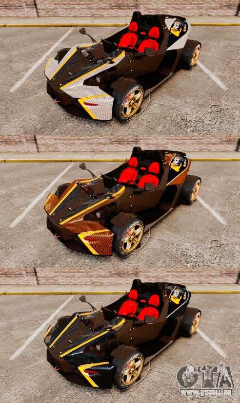 KTM X-Bow R [FINAL] pour GTA 4 vue de dessus
