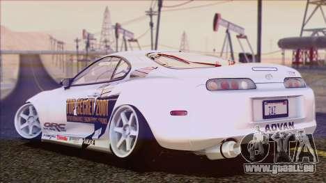 Toyota Supra 1998 Top Secret pour GTA San Andreas vue de dessous