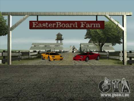 Lamborghini Diablo SV für GTA San Andreas zurück linke Ansicht