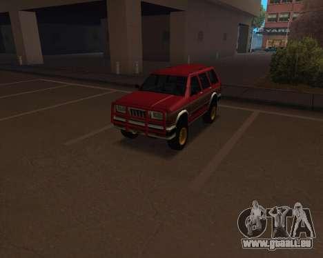 Landstalker V2 pour GTA San Andreas vue arrière