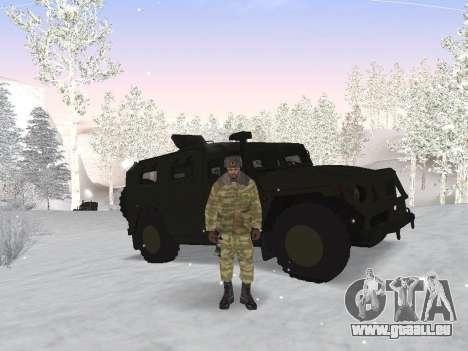 Pak Russischen Armee service für GTA San Andreas dritten Screenshot
