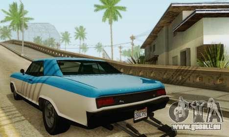 Gta 5 Boucanier mis à jour pour GTA San Andreas sur la vue arrière gauche