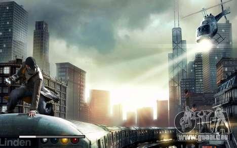 Les écrans de démarrage et de menus Watch Dogs pour GTA San Andreas sixième écran
