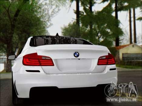 BMW 550 F10 VOSSEN pour GTA San Andreas vue de côté