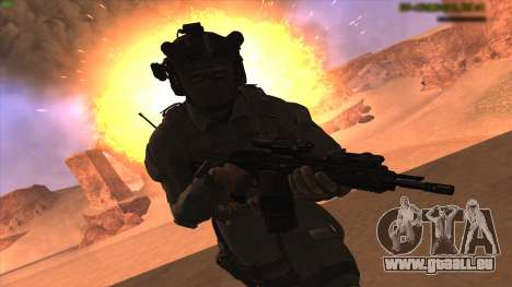 Sgt Keegan P.Russ из Call Of Duty: Geister für GTA San Andreas zweiten Screenshot
