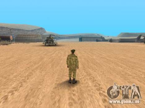 Pak service dans l'armée russe pour GTA San Andreas
