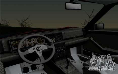 Lancia Delta HF Integrale Evo2 pour GTA San Andreas vue arrière