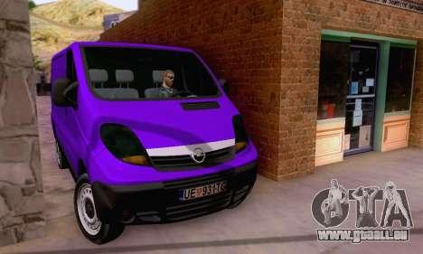 Opel Vivaro pour GTA San Andreas vue arrière