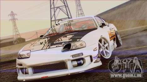 Toyota Supra 1998 Top Secret pour GTA San Andreas vue de droite