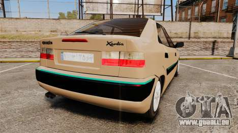 Citroen Xantia pour GTA 4 Vue arrière de la gauche