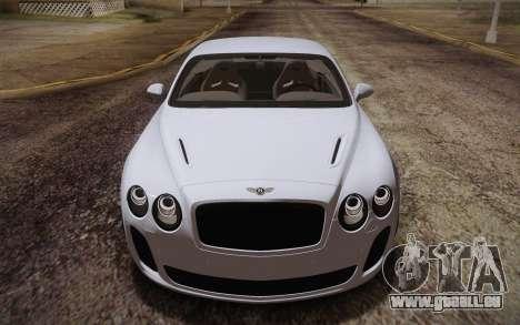 Bentley Continental SuperSports 2010 v2 Finale pour GTA San Andreas vue de côté