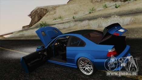 BMW M3 E46 GTR 2005 pour GTA San Andreas vue de dessous