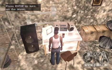 Le sous-sol de la maison Carl pour GTA San Andreas sixième écran