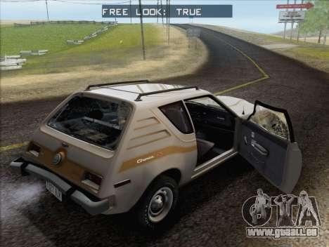 AMC Gremlin X 1973 pour GTA San Andreas vue de dessus