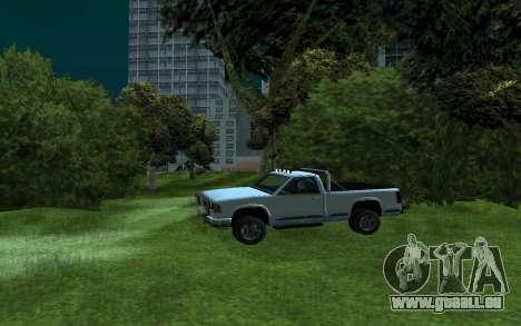 Yosemite Hunter pour GTA San Andreas laissé vue