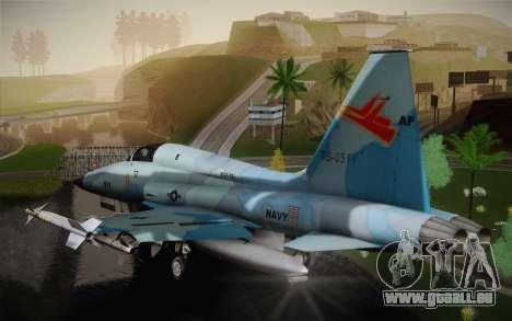 F-5E Tiger II für GTA San Andreas zurück linke Ansicht