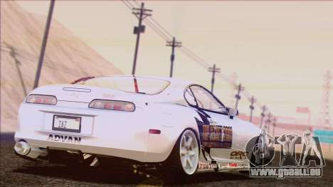 Toyota Supra 1998 Top Secret pour GTA San Andreas salon