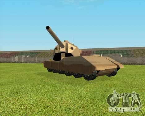 RhinoKnappe auf. 128mm Zenit-Waffe für GTA San Andreas linke Ansicht