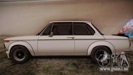 BMW 2002 1973 pour GTA San Andreas laissé vue