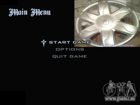 Menu Automobile Chapeaux De Roues pour GTA San Andreas