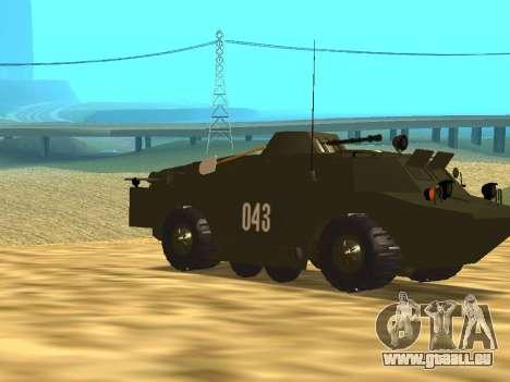 Gardes BRDM-2 pour GTA San Andreas vue intérieure