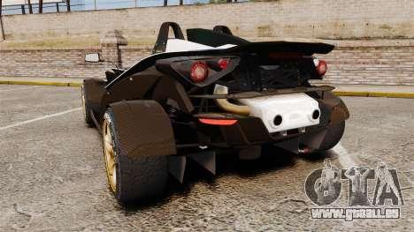 KTM X-Bow R [FINAL] pour GTA 4 Vue arrière de la gauche