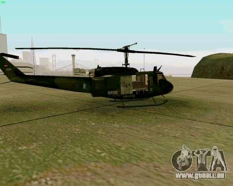 UH-1D Huey pour GTA San Andreas sur la vue arrière gauche