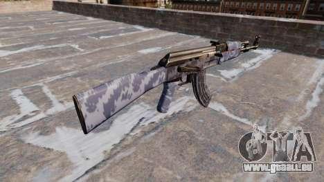 L'AK-47 Bleu Camo pour GTA 4 secondes d'écran