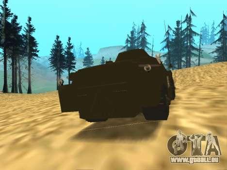 Gardes BRDM-2 pour GTA San Andreas vue de droite